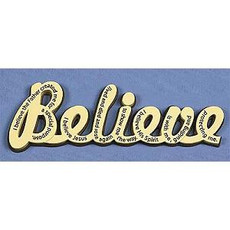 """""""Believe"""" Wall Word"""