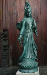 "Kwan Yin Standing Bronze 43"""