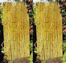 Iron Bamboo Panel Screen, of 4 panels