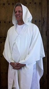 The Hooded Meditation Robe made from raw silk is perfect for all types of meditation practice.