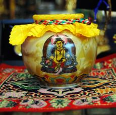 Yellow Dzambhala or Zambala wealth treasure vase