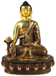 """Medicine Buddha Statute, aka Bhaisajya Guru, 12"""""""