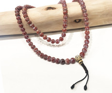 Red Carnelian Love and Compassion Mala, 108 bead