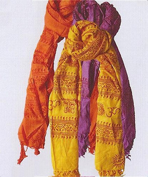 Sacred Deity Scarf perfect for warmth and making an empowering spiritual statement.
