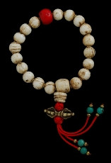 Vintage Conch Shell Hand Mala with dorje