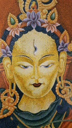 White Tara longevity and health deity painting.