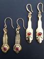 15-5PA Vintage Goldplated Earrings (Metal Clay)