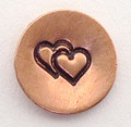 Double Heart Stamp Sample