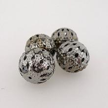 """Metal Filigree Beads - """"Damask"""""""