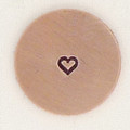 Tiny 1.5mm Heart Metal Stamp Sample