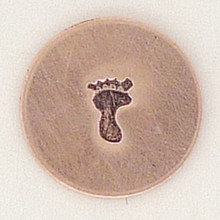 Left Solid Baby Footprint Metal Stamp Sample