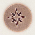 Compass Rose Metal Stamp Sample