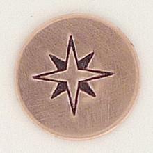 Compass Rose Metal Stamp Sample