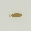 Brass Oval Tag with Ring