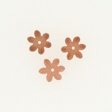 Copper Textured Flower with Line Detail, Cupped