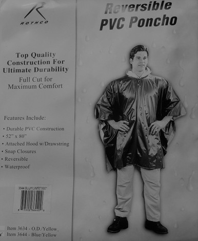 Reversible Waterproof Poncho