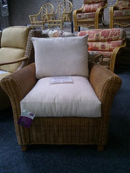 JAKARTA RATTAN CHAIR IN MOZART FABRIC  MEASUREMENTS : 90CM WIDTH 90CM DEPTH 90CM HEIGHT
