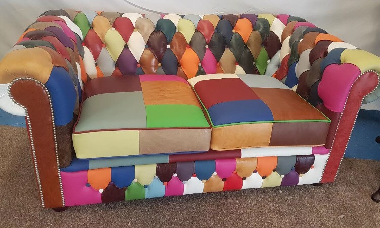 Tremendous Harlequin Leather Modern Chesterfield 3 Seater Sofa Home Interior And Landscaping Sapresignezvosmurscom