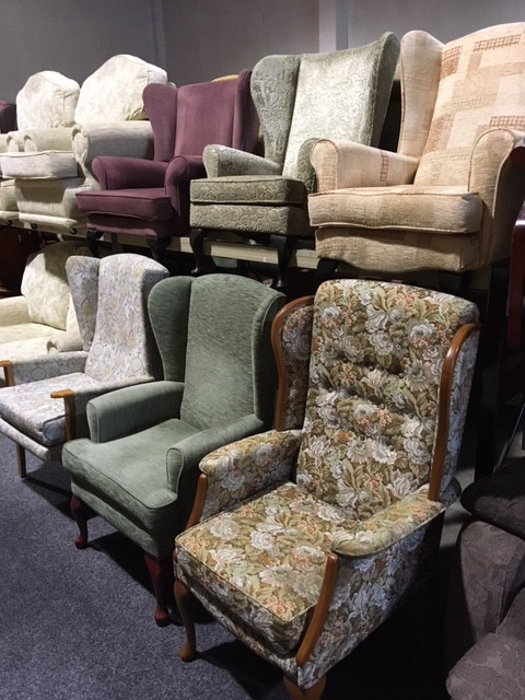 A selection of wing type chairs to clear from £50 each!