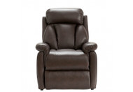 Georgia Power Recliner in Mahogany Grade B leather