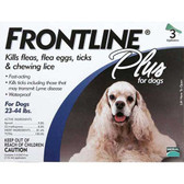 Frontline Flea Control Plus for Dogs And Puppies 23-44 lbs 3 Pack