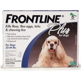 Frontline Flea Control Plus for Dogs And Puppies 23-44 lbs 6 Pack