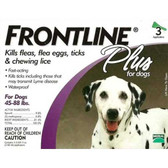 Frontline Flea Control Plus for Dogs And Puppies 45-88 lbs 3 Pack