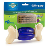 "Premier Busy Buddy Funny Bone Purple / White 6"" x 6"" x 2"""
