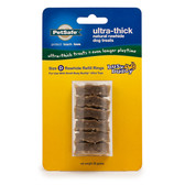 Premier Busy Buddy Ultra-Thick Natural Rawhide Rings Refill Small Brown